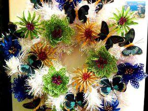 Делаем новогодний венок-магнит. Ярмарка Мастеров - ручная работа, handmade.