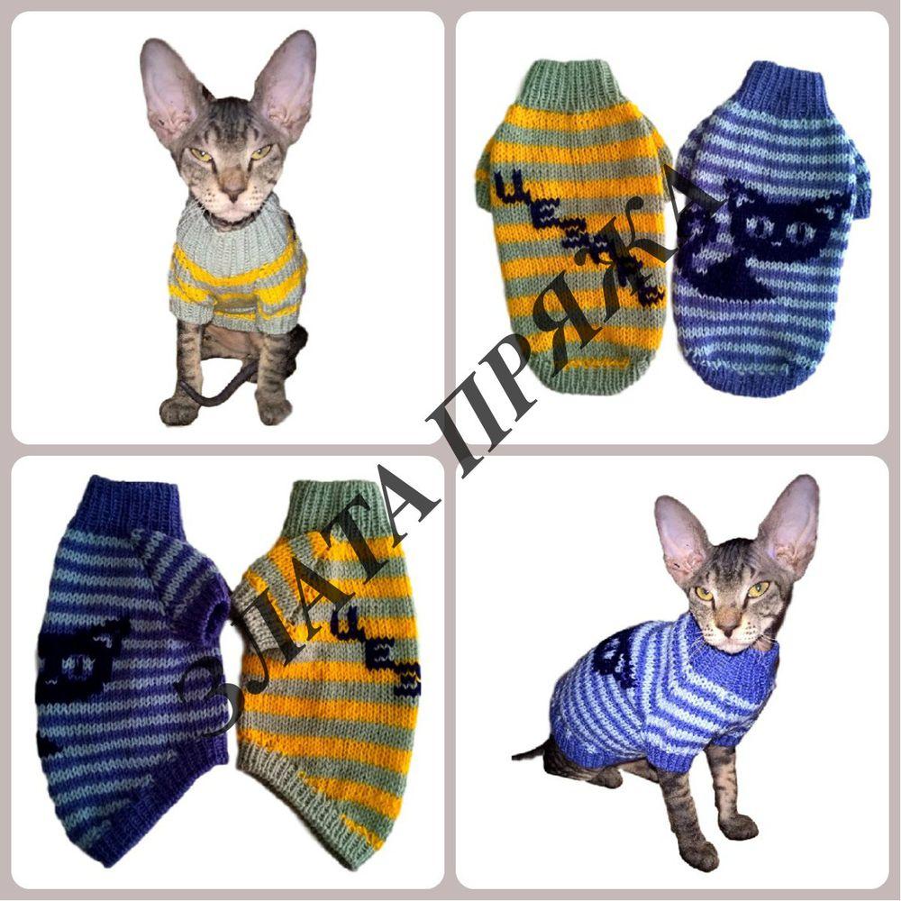 свитер коту, свитер для кота, свитер для кошки, одежда для кошек, одежда для кота, одежда для животных, злата пряжа