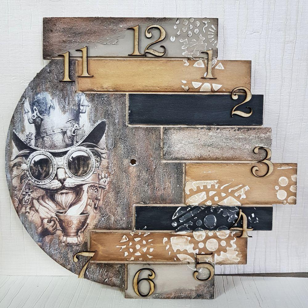 Часы с рельефом и объемными элементами,МК подходит для начинающих!, фото № 6
