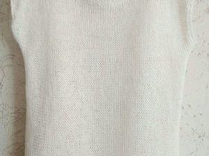 Аукцион на белую тунику из прибалтийского льна!Старт 1600!. Ярмарка Мастеров - ручная работа, handmade.