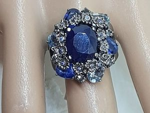 20% скидка на шикарное кольцо с сапфирами. Ярмарка Мастеров - ручная работа, handmade.