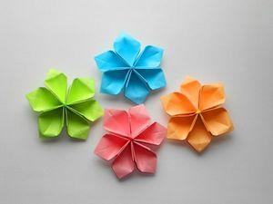 Видеоурок: мастерим простые бумажные цветы. Ярмарка Мастеров - ручная работа, handmade.