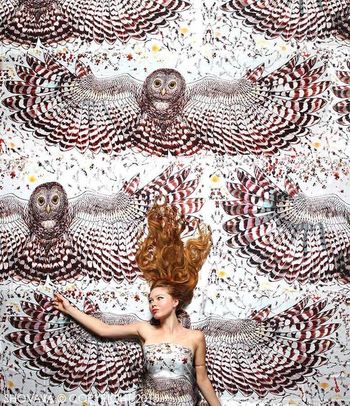 Когда вырастают крылья: завораживающие палантины Розы Хамитовой, фото № 3
