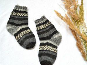 Детские носочки! Вязаные теплые — любого цвета и размера на заказ!. Ярмарка Мастеров - ручная работа, handmade.