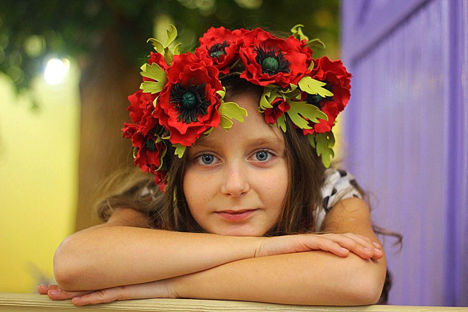венок на голову, полевые цветы