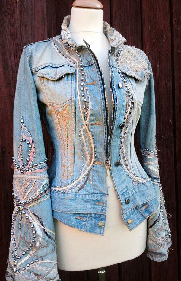 Многообразный декор джинсовых курток: 50 интересных вариантов, фото № 34