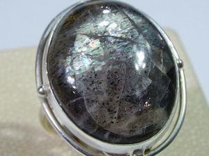Лунно-солнечный камень кольца видео | Ярмарка Мастеров - ручная работа, handmade