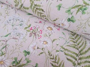 Новинка. Интерьерная ткань  полевые цветы. Ярмарка Мастеров - ручная работа, handmade.