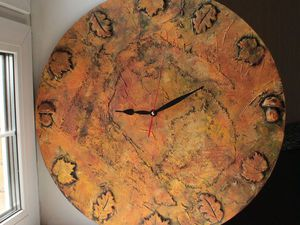 Фактурные настенные часы «Прекрасная осень»: мастер-класс. Ярмарка Мастеров - ручная работа, handmade.