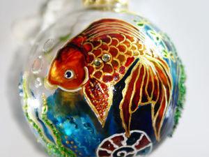 Друзья, поддержите пожалуйста золотую рыбку в новогоднем конкурсе!!!. Ярмарка Мастеров - ручная работа, handmade.