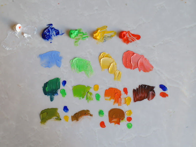 тест масляных красок