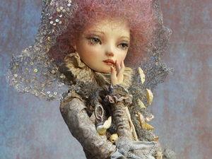 """"""" Жемчужина"""" статичная кукла на подставке. Ярмарка Мастеров - ручная работа, handmade."""