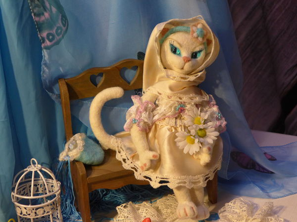 Валяная кукла-кошка Беатрис её создание и нюансы | Ярмарка Мастеров - ручная работа, handmade