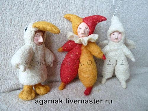ватные игрушки, куколки