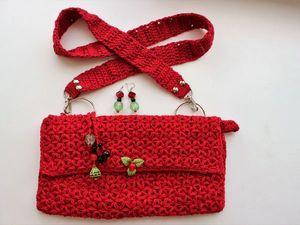 Дарю сумочку и серьги за заказ!. Ярмарка Мастеров - ручная работа, handmade.