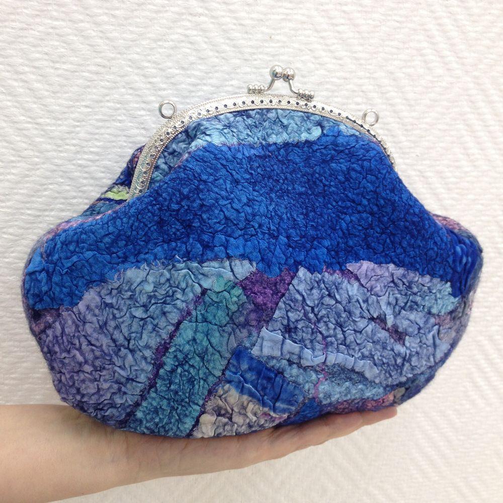 Изящная валяная сумочка с фермуаром, фото № 29