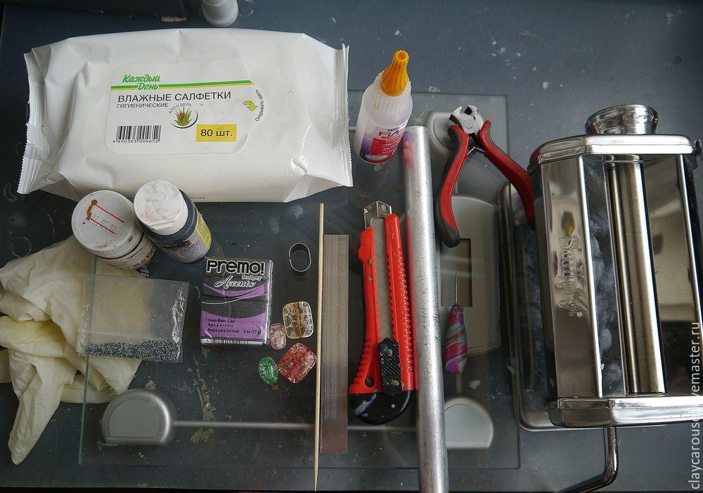 Шпильки из полимерной глины мастер класс поделка #7
