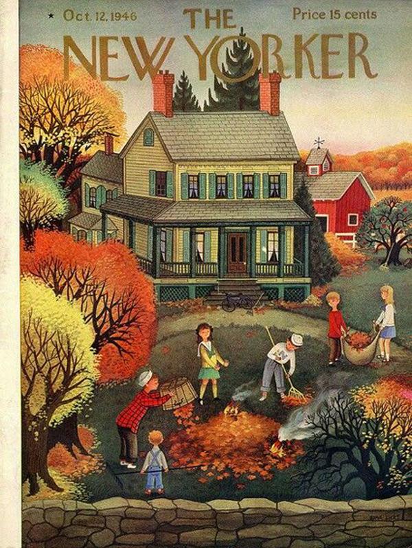 Осень в обложках журналов XX века