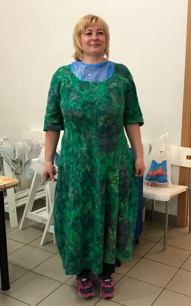 платье валяное, мк в москве