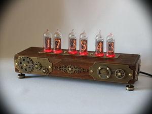 Часы Steampunk цвет дуб видео. Ярмарка Мастеров - ручная работа, handmade.