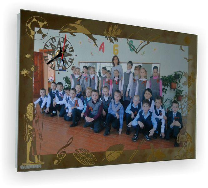 Фоторамка-часы на зеркале Учителю, фото № 1