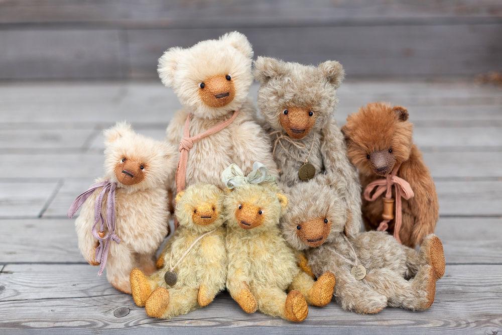 тедди мишки, mohair teddy bears
