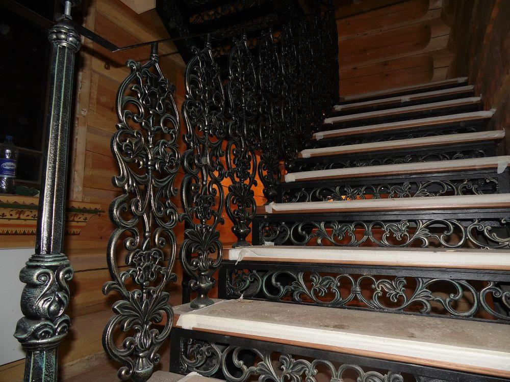 лестница в русском стиле