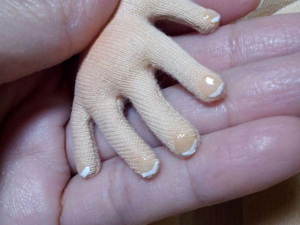 Маникюр и педикюр для текстильной куклы. | Ярмарка Мастеров - ручная работа, handmade