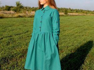 """Новая работа.Новая модель.Льняное платье """"ГАЛИНА"""". Ярмарка Мастеров - ручная работа, handmade."""
