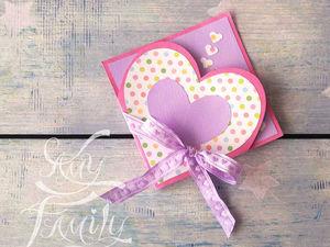 Видео мастер-класс: простой вариант валентинки ко Дню всех влюбленных. Ярмарка Мастеров - ручная работа, handmade.