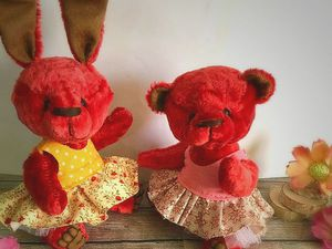 Весенние плюшевые подружки Соня и Мая | Ярмарка Мастеров - ручная работа, handmade