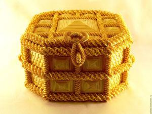 Шкатулка-сундук. Ярмарка Мастеров - ручная работа, handmade.