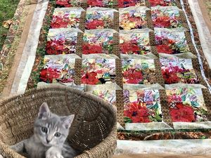 Видео мастер-класс: лоскутное одеяло «Окно в Сад» в технике «Акварель». Ярмарка Мастеров - ручная работа, handmade.