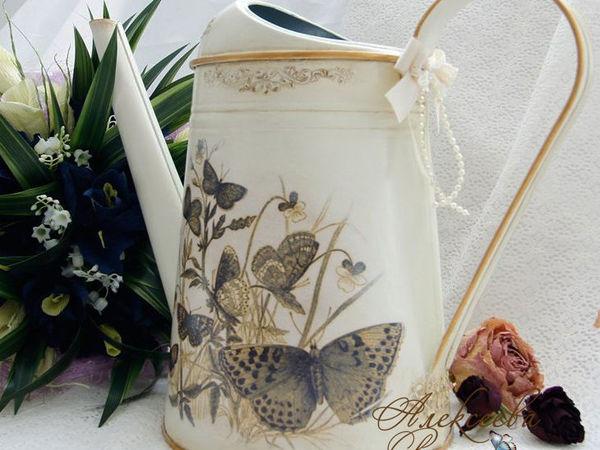 Декорируем лейку «Бабушкино наследство» | Ярмарка Мастеров - ручная работа, handmade