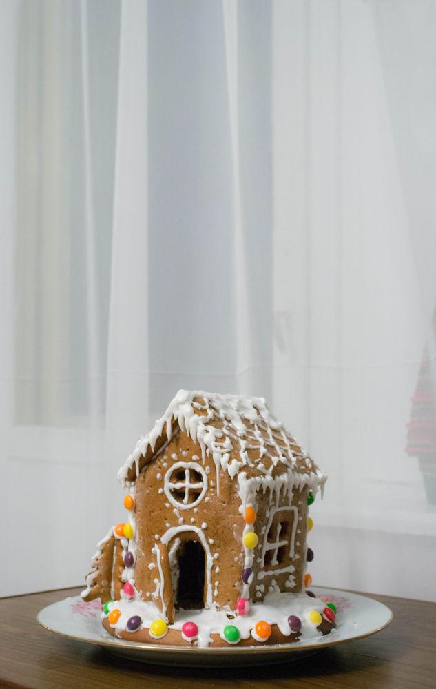 пряничный домик, новогодние украшения, кулинария