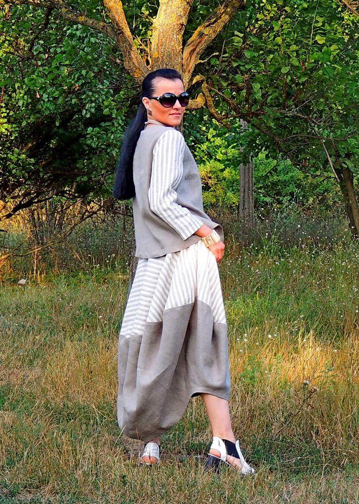 костюм женский из льна