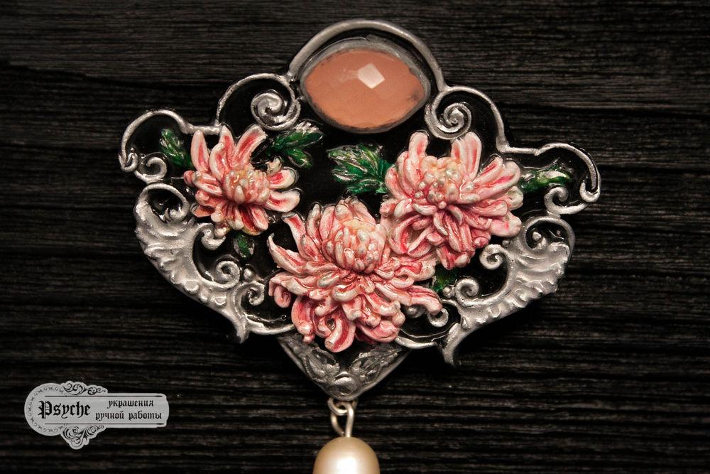 украшения ручной работы, хризантема