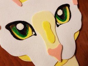 Делаем закладку «Кошечка» из фоамирана. Ярмарка Мастеров - ручная работа, handmade.