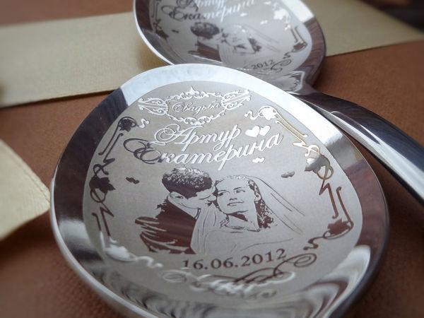 Столовые приборы в серебряном цвете   Ярмарка Мастеров - ручная работа, handmade