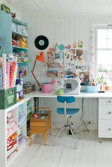 What a happy creative space.