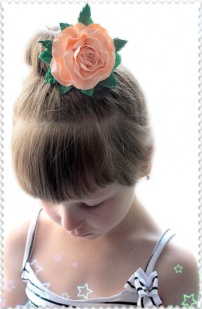резинка для волос, купить ободок, розы ручной работы