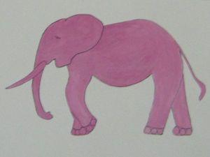 Картина Розовый слон.. Ярмарка Мастеров - ручная работа, handmade.