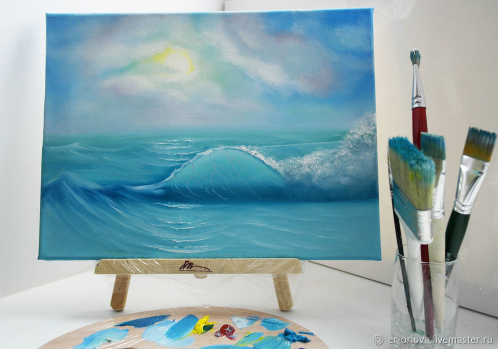 Painting Seascape with Oil Paints, фото № 18