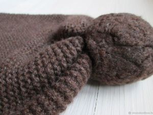 Тёплая шапка с помпоном (повтор работы). Ярмарка Мастеров - ручная работа, handmade.