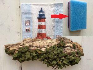 Как сделать искусственный мох с помощью губки для посуды. Ярмарка Мастеров - ручная работа, handmade.