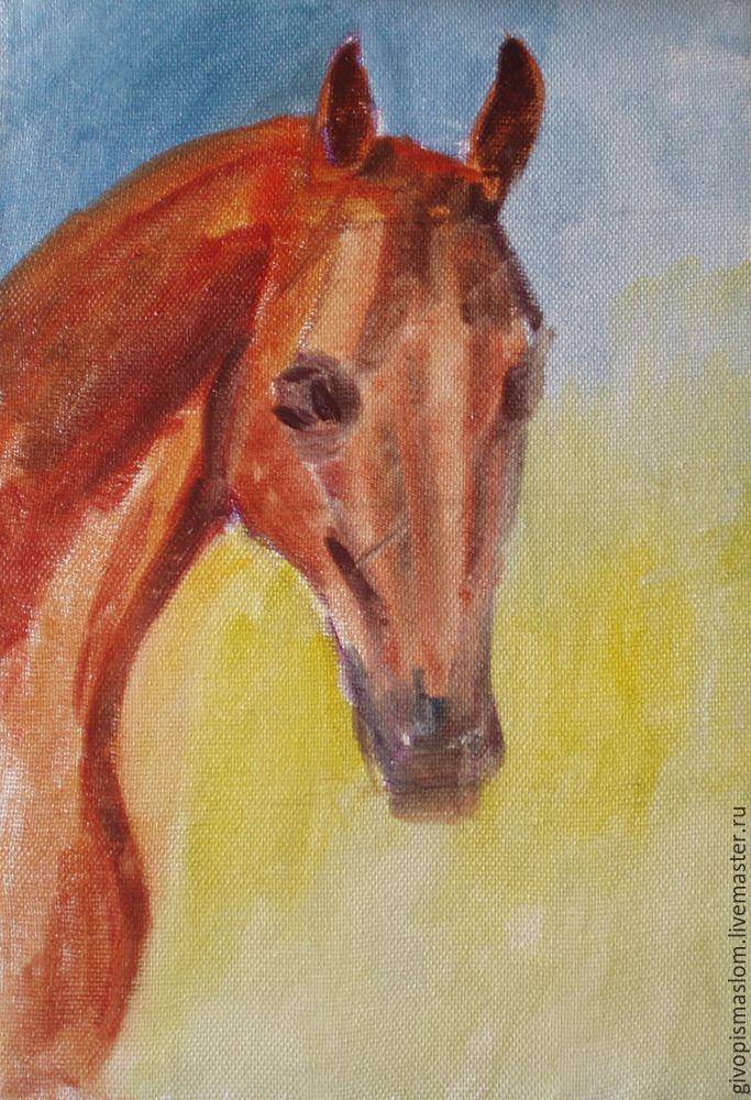 этюд головы лошади