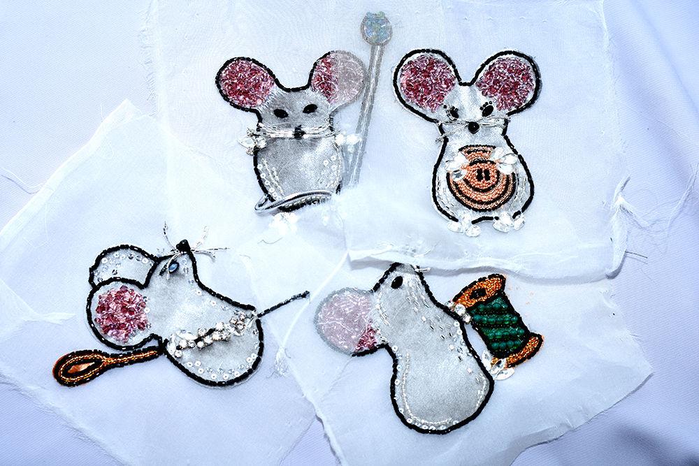 мыши, dg, украшения, вышивка бисером