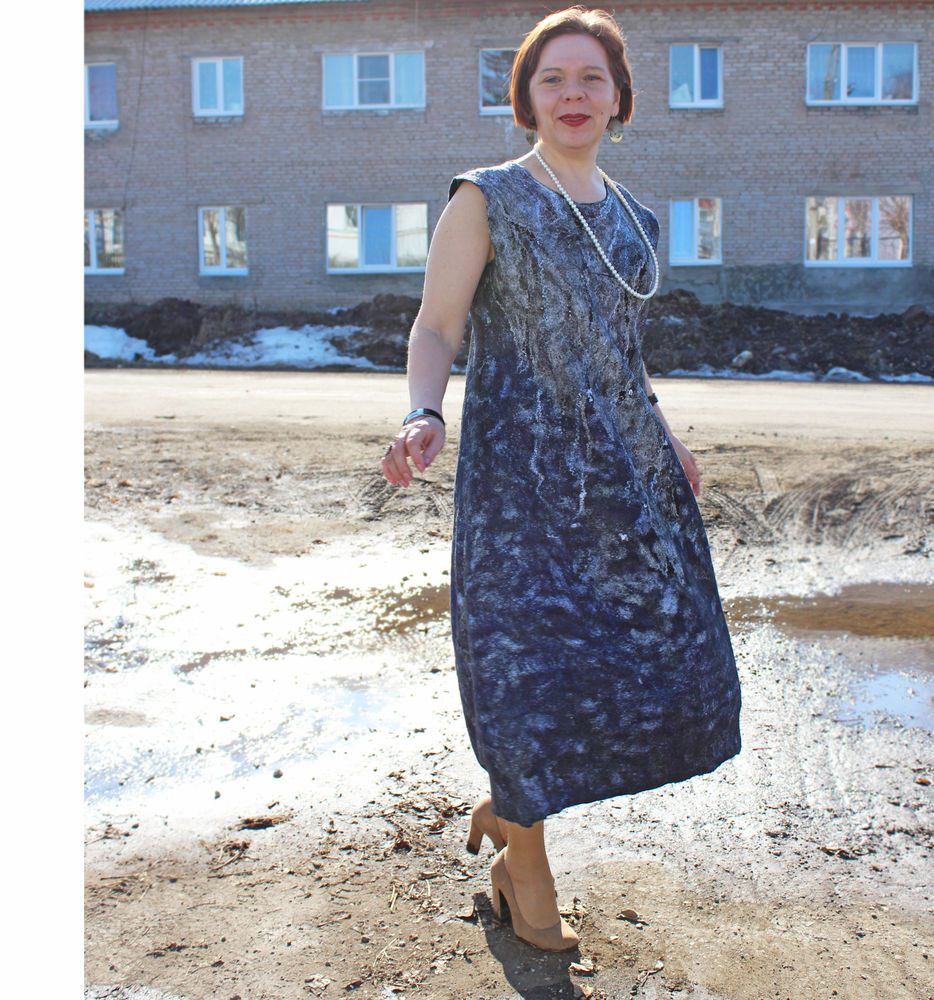 валяное платье