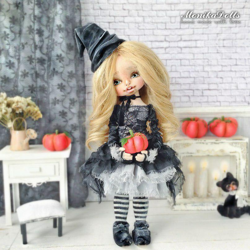 авторская кукла, кукла, новый год, хеллоуин