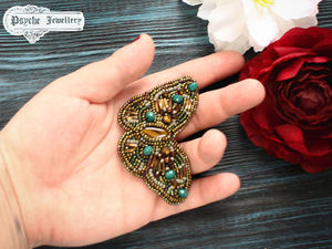 Брошь бисер.Брошь бабочка за 1500 р. Ярмарка Мастеров - ручная работа, handmade.